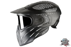 JT Premise Headshield Paintball Goggle Single Pane & Clear Lens, Black