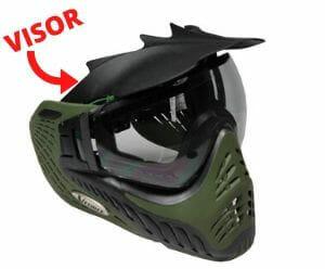 Visor of paintball mask