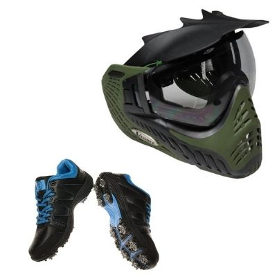 Antifog paintball mask and Water proof shoes