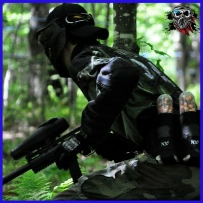 Stay sneaky and quite paintball position