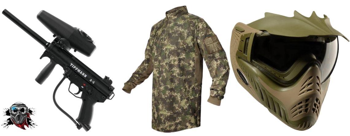 woodsball equipment and clothing