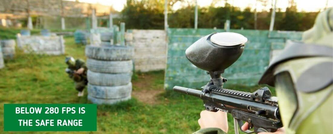 What Is The Safe Shooting Paintball Gun Range